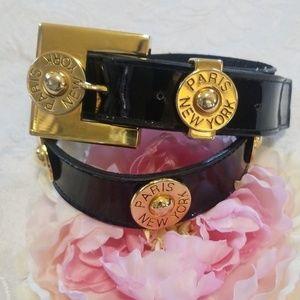 Gorgeous Doncaster VTG Patent Leather Belt